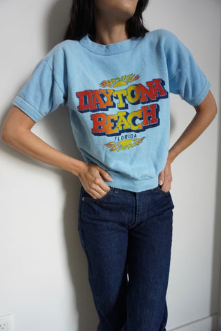 Daytona Beach Short Sleeved Sweatshirt, Sz. S