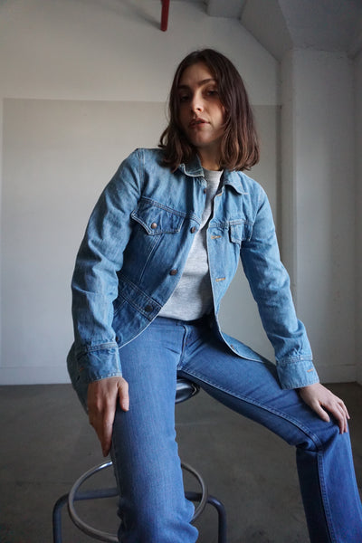 SALE 1970s Levi's Denim Safari Jacket, Sz. S