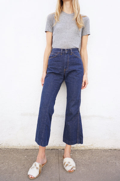 SALE Vintage 1960s Big E Levi's Bell Bottom Jeans Sz. 25.5 Waist