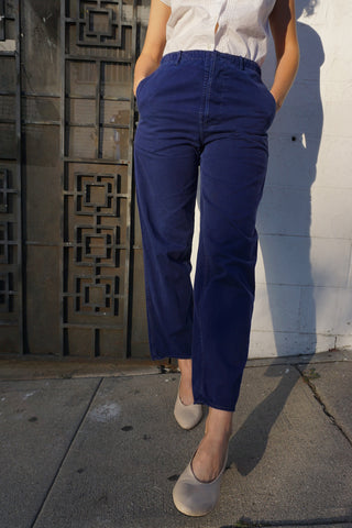 Indigo Cotton Work Pants Sz. 28 x 28.5