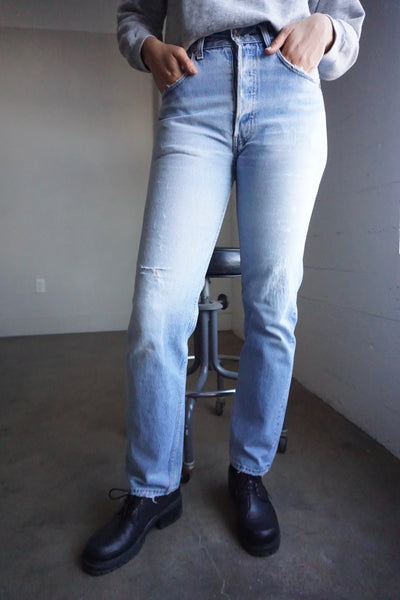 Levi's 501 Jeans Medium Wash Distressed, Sz. 29.5 x 32