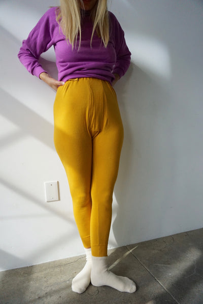 SALE Mustard Long Johns, Multiple Sizes