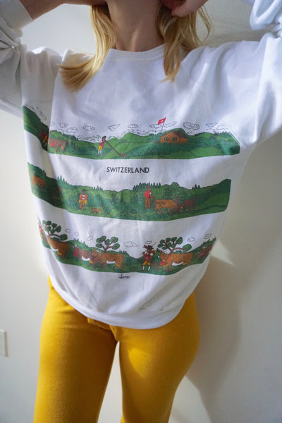 80s Switzerland Sweatshirt, Sz. M-L