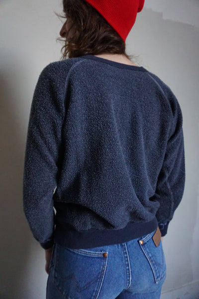 SALE Inside Out Navy Raglan Sweatshirt, Sz. S