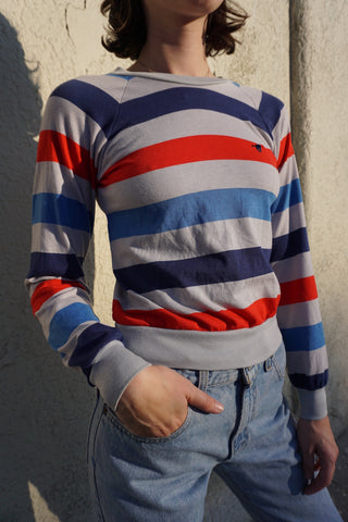 SALE Striped Shirt w/ Raglan Sleeves, Sz. S