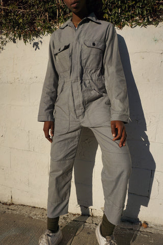 "SALE Light Gray European Coveralls, Sz. Up to 37"" Waist"