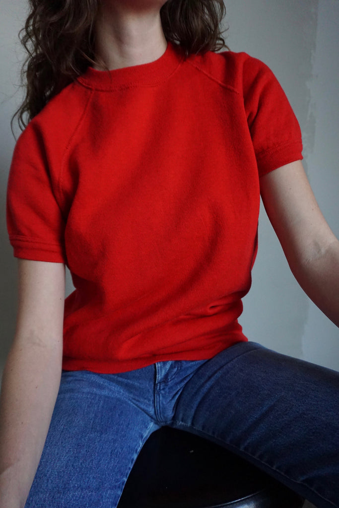 Candy Apple Short Sleeve Sweatshirt, Sz. M