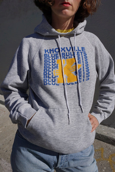 SALE Gray Hooded Sweatshirt, Knoxville, Sz. M