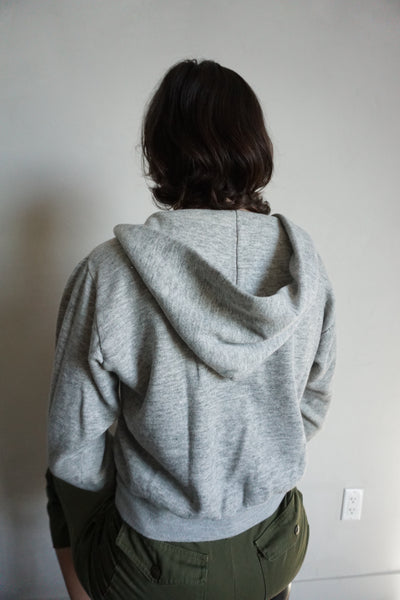 SALE Wrangler Gray Hooded Zip Up Sweatshirt, Sz. S