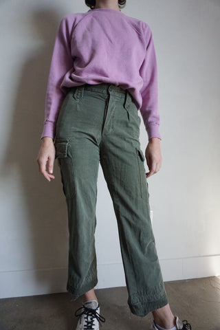 SALE 70s Portuguese Army Pants, Sz. 26 x 27.5