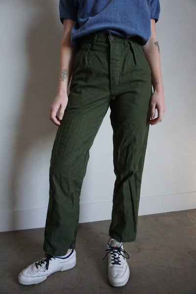 SALE High Waisted Swedish Military Pants, Multiple Sizes