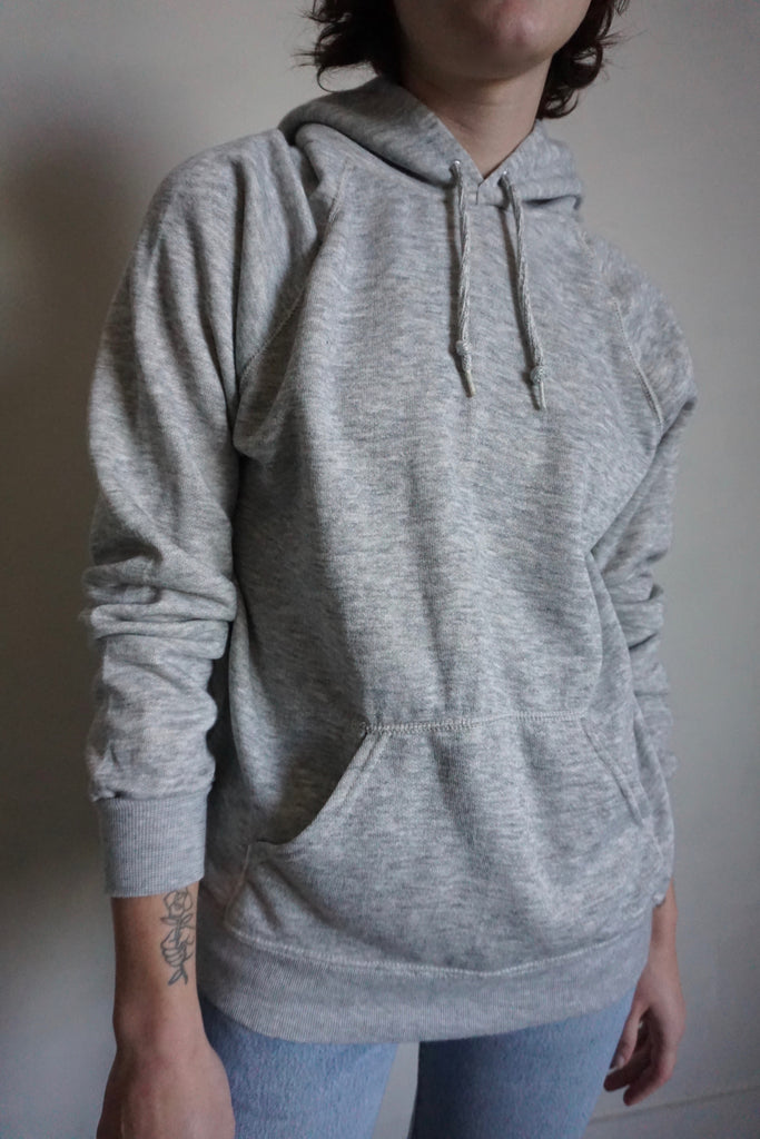 SALE Heather Gray Hooded Sweatshirt, Sz. M