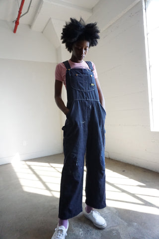 "Toughskins Dark Denim Overalls, Sz. Up to 35"" Waist"