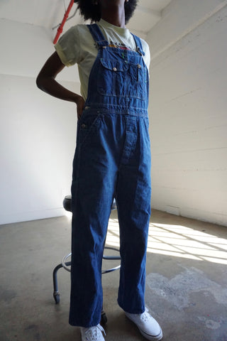 "70s K Alls Denim Overalls, Sz. Up to 28.5"" Waist"