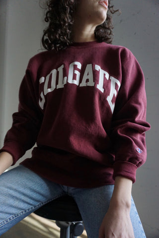 SALE Champion Sweatshirt, Colgate University, Sz. L