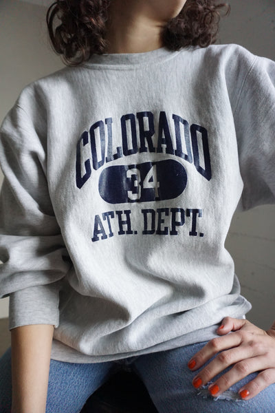 SALE Champion Sweatshirt, Colorado Athletic, Sz. M