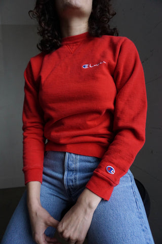 Red Champion Sweatshirt, Sz. XS - S