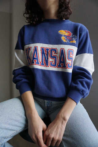 Champion Sweatshirt, Kansas U, Sz. M