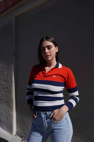 SALE Striped Rugby Shirt, Sz. S