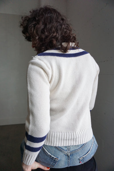 Ralph Lauren Nautical Cotton Sweater, Sz. XS