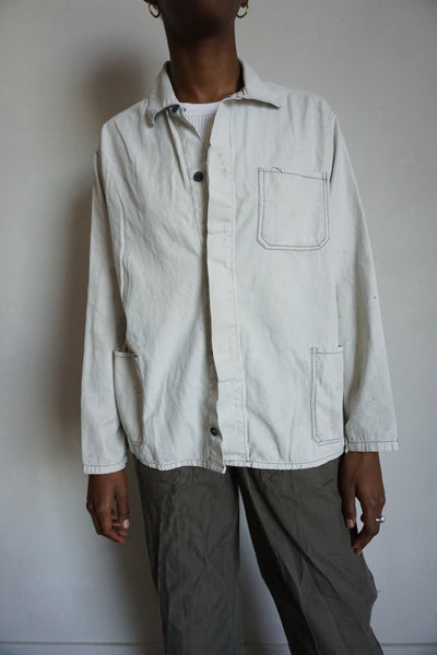 SALE Chore Jacket Dove Cotton, Sz. M