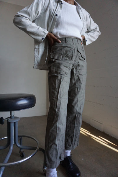 SALE High Waisted Swedish Military Trouser, Sz. 25 - 26 x 28.5