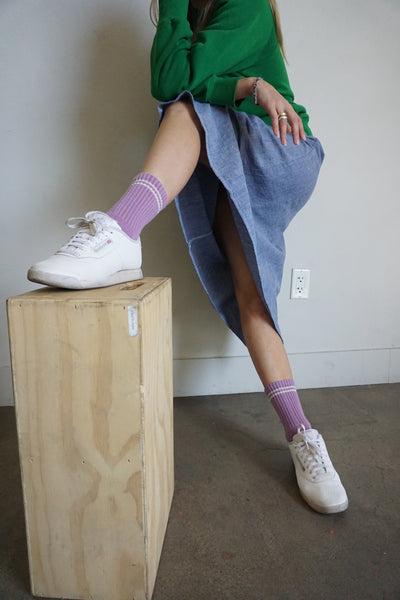 Boyfriend Socks, Grape