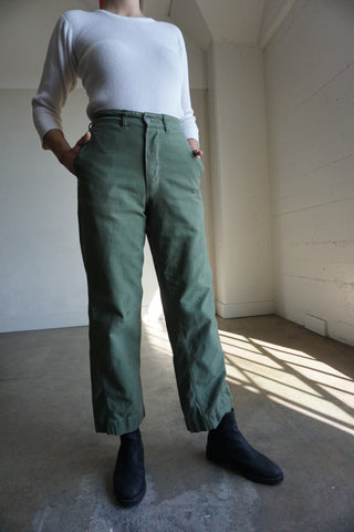 SALE High Waist U.S. Army Pants, Sz. 28 x 30