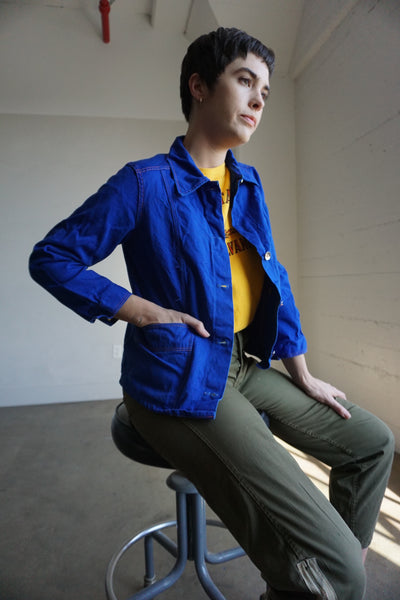 SALE Chore Jacket Lapis Cotton, Multiple Sizes