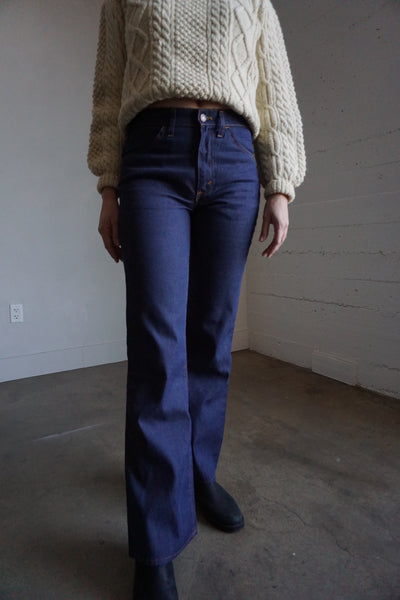 1970s Levi's Dark Wash Flares, Multiple sizes