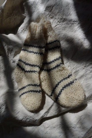 Children's Hand Spun Wool Socks, 12-18 months