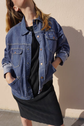 SALE 1960s Roebucks Selvedge Denim Jacket, Sz. M-L