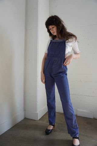 Brushed Cotton Twill Workwear Overalls, Sz. 29 Waist