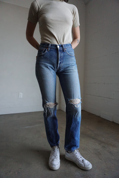 Levi's 501 Jeans Distressed, Sz. 26 x 30