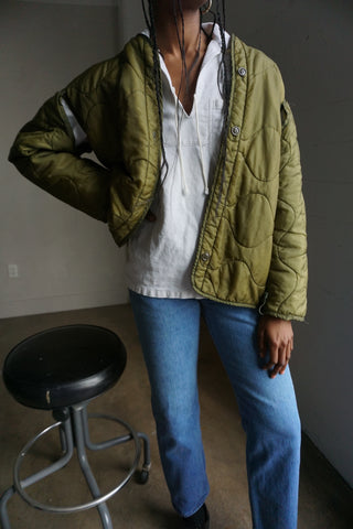 Vintage Military Quilted Liner Jacket Sz. M