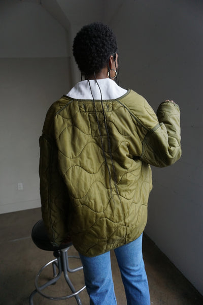 SALE Vintage Military Quilted Liner Jacket Sz. M