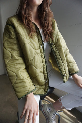 Vintage Military Quilted Liner Jacket Sz. S-M