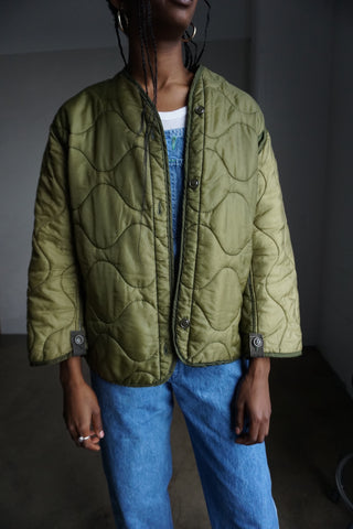 Vintage Military Quilted Liner Jacket Sz. S