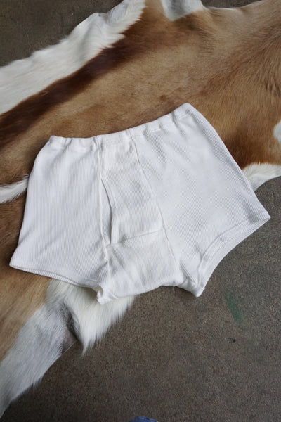 Ribbed Cotton Boy Shorts, Sz. S-M