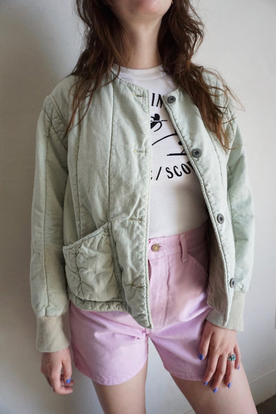 Sage Czech Quilted Cotton Jacket, Multiple Sizes