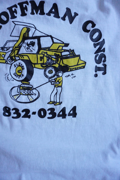 SALE 80s Construction Tee Sz. M