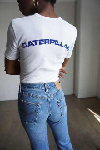 80s Caterpillar Tee, Sz. S