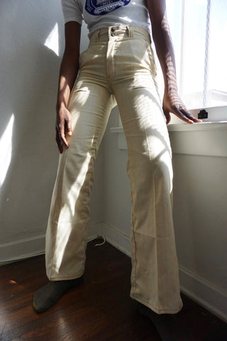 SALE 1970s Butterscotch High Waisted Flare Pants, Sz. 28 x 33
