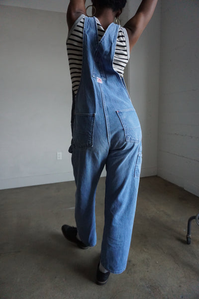 "Round House Medium Wash Denim Overalls, Sz. 30"" Waist"