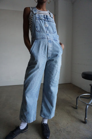 "80s Lee Denim Overalls, Sz. 27"" Waist"