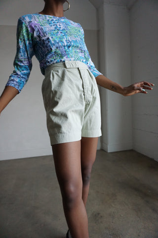 "High Waisted Front Pleat Shorts, Sz. 27"" - 28"" Waist"
