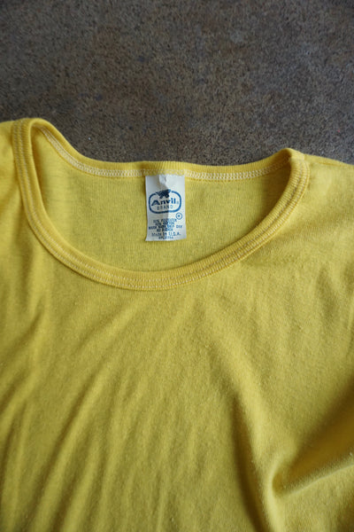 SALE Yellow 1970s Tee, Multiple Sizes