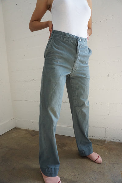 1960s High Waisted Work Pants, Multiple Sizes