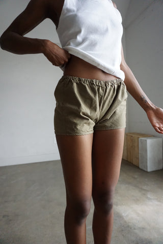 Tan Cotton Shorts, Sz. M