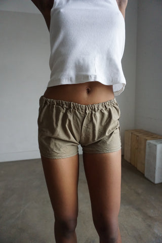 Tan Cotton Shorts, Sz. S